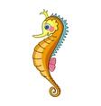 Bright Orange Seahorse vector image