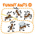 funny small ants set children vector image