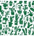 houseplants - seamless background vector image