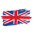 Painted British Flag vector image