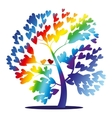 rainbow tree vector image