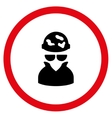 Spotted Spy Flat Rounded Icon vector image