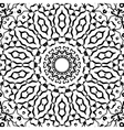 Symmetrical black and white pattern seamless vector image