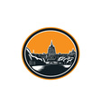 United States Capitol Building Woodcut Retro vector image