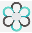 Concept of colorful circular banners in flower vector image vector image