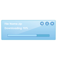 Downloading file with progress bar vector image vector image