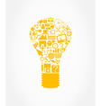 office light bulb vector image vector image