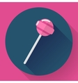 Sweet candy Pink lollipop vector image