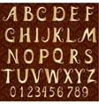 gold font on a vintage background vector image vector image