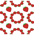 Strawberry seamless pattern2 vector image