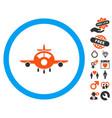 aircraft icon with valentine bonus vector image