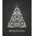 Chalkboard Vintage style Christmas Tree vector image