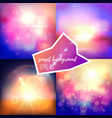 evening sun backgrounds set vector image
