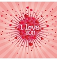 explosion hearts love image design vector image