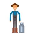 Farmers milk can vector image