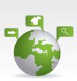 Globe map green vector image
