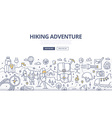 Hiking Adventure Doodle Concept vector image