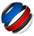 patriotic tricolor globe vector image