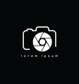 photography symbol theme vector image