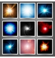 Set Abstract light background vector image