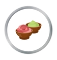 Wasabi and ginger icon in cartoon style isolated vector image