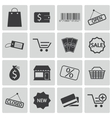 black shop icons set vector image