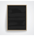 Black chalkboard with wooden frame vector image
