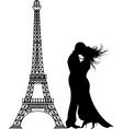 vector romance Paris silhouette vector image