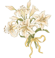Bunch of lilies vector image vector image