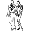 Boys and Girls Couples vector image