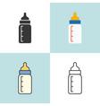baby milk bottle in various design vector image