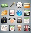 business icons set1 1 vector image
