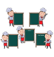 Chefs children with menu board vector image
