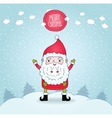 Cute cartoon Santa Claus and winter nature vector image