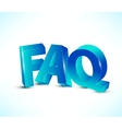 FAQ letters vector image