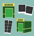 flat and 3d photo booth icon infographic element vector image