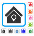 house location framed icon vector image