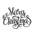 merry christmas calligraphic text vector image