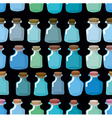 Research laboratory bottles seamless pattern vector image