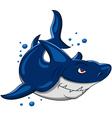 angry shark vector image vector image