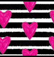abstract hand drawn heart love seamless pattern vector image