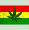 rastafarian flag vector image