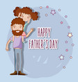 good father playing with her daughter vector image