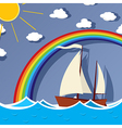 Sailing background card vector image