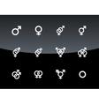 Gender symbol on black background vector image