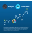Web analytics information and investment vector image