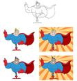 Cartoon superhero design vector image