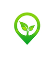green leaf media abstract eco logo vector image vector image