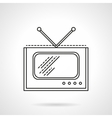 Flat line TV icon vector image