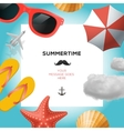 Summertime traveling template vector image